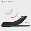 Eiroo Carbon Shield Sony Xperia XZ Premium Ultra Koruma Lacivert Kılıf - Resim 2