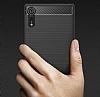 Eiroo Carbon Shield Sony Xperia XZ Süper Koruma Lacivert Kılıf - Resim 5