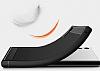Eiroo Carbon Shield Sony Xperia XZ Süper Koruma Lacivert Kılıf - Resim 2