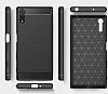 Eiroo Carbon Shield Sony Xperia XZ Süper Koruma Lacivert Kılıf - Resim 3