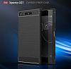 Eiroo Carbon Shield Sony Xperia XZ1 Süper Koruma Gri Kılıf - Resim 2