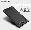 Eiroo Carbon Shield Sony Xperia XZ1 Süper Koruma Gri Kılıf - Resim 4