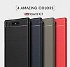 Eiroo Carbon Shield Sony Xperia XZ1 Süper Koruma Gri Kılıf - Resim 10
