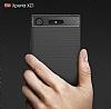 Eiroo Carbon Shield Sony Xperia XZ1 Süper Koruma Gri Kılıf - Resim 6