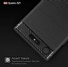 Eiroo Carbon Shield Sony Xperia XZ1 Süper Koruma Gri Kılıf - Resim 5