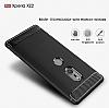 Eiroo Carbon Shield Sony Xperia XZ2 Ultra Koruma Dark Silver Kılıf - Resim 2