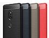 Eiroo Carbon Shield Sony Xperia XZ2 Ultra Koruma Dark Silver Kılıf - Resim 7