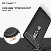 Eiroo Carbon Shield Sony Xperia XZ2 Ultra Koruma Dark Silver Kılıf - Resim 5