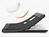 Eiroo Carbon Shield Sony Xperia XZ2 Ultra Koruma Dark Silver Kılıf - Resim 4