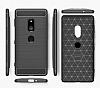 Eiroo Carbon Shield Sony Xperia XZ2 Ultra Koruma Dark Silver Kılıf - Resim 6