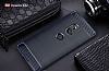Eiroo Carbon Shield Sony Xperia XZ2 Ultra Koruma Lacivert Kılıf - Resim 8