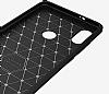 Eiroo Carbon Shield Xiaomi Mi 8 SE Ultra Koruma Dark Silver Kılıf - Resim 1