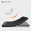 Eiroo Carbon Shield Xiaomi Mi Note 3 Ultra Koruma Gri Kılıf - Resim 1