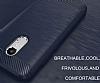 Eiroo Carbon Shield Xiaomi Redmi Note 4 / Redmi Note 4X Ultra Koruma Dark Silver Kılıf - Resim 3