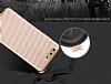 Eiroo Carbon Thin Huawei P10 Plus Ultra İnce Rose Gold Silikon Kılıf - Resim 2