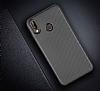 Eiroo Carbon Thin Huawei P20 Lite Ultra İnce Silver Silikon Kılıf - Resim 1