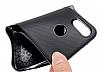 Eiroo Carbon Thin Huawei P20 Lite Ultra İnce Silver Silikon Kılıf - Resim 3