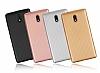 Eiroo Carbon Thin Nokia 3 Ultra İnce Gold Silikon Kılıf - Resim 5