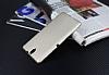 Eiroo Carbon Thin Sony Xperia C5 Ultra Süper İnce Gold Silikon Kılıf - Resim 2