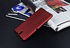 Eiroo Carbon Thin Sony Xperia C5 Ultra Süper İnce Kırmızı Silikon Kılıf - Resim 2