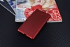 Eiroo Carbon Thin Sony Xperia C5 Ultra Süper İnce Kırmızı Silikon Kılıf - Resim 1