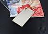Eiroo Carbon Thin Sony Xperia M4 Aqua Ultra İnce Gold Silikon Kılıf - Resim 1