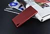 Eiroo Carbon Thin Sony Xperia M4 Aqua Ultra İnce Kırmızı Silikon Kılıf - Resim 1