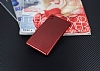Eiroo Carbon Thin Sony Xperia M4 Aqua Ultra İnce Kırmızı Silikon Kılıf - Resim 2