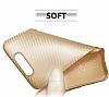 Eiroo Carbon Thin Turkcell T80 Ultra İnce Gold Silikon Kılıf - Resim 1