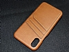 Eiroo Card Pass Apple iPhone X Deri Kartlıklı Kahverengi Kılıf - Resim 4
