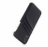 Eiroo Card Pass iPhone 6 / 6S Deri Kartlıklı Siyah Kılıf - Resim 2