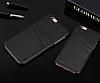 Eiroo Card Pass iPhone 6 Plus / 6S Plus Deri Kartlıklı Siyah Kılıf - Resim 3