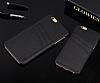 Eiroo Card Pass iPhone 7 Plus / 8 Plus Deri Kartlıklı Siyah Kılıf - Resim 1