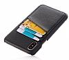 Eiroo Card Pass iPhone 7 Plus / 8 Plus Deri Kartlıklı Siyah Kılıf - Resim 2