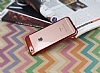 Eiroo Clear Thin iPhone 6 / 6S Kırmızı Kenarlı Şeffaf Rubber Kılıf - Resim 1