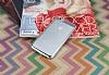 Eiroo Clear Thin iPhone 6 / 6S Silver Kenarlı Şeffaf Rubber Kılıf - Resim 1