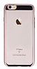 Eiroo Clear Thin iPhone 6 / 6S Rose Gold Kenarlı Şeffaf Rubber Kılıf - Resim 3