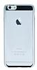 Eiroo Clear Thin iPhone 6 / 6S Silver Kenarlı Şeffaf Rubber Kılıf - Resim 3