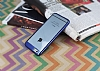 Eiroo Clear Thin iPhone 6 Plus / 6S Plus Lacivert Kenarlı Şeffaf Rubber Kılıf - Resim 1