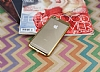 Eiroo Clear Thin iPhone 6 Plus / 6S Plus Gold Kenarlı Şeffaf Rubber Kılıf - Resim 2