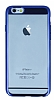 Eiroo Clear Thin iPhone 6 Plus / 6S Plus Lacivert Kenarlı Şeffaf Rubber Kılıf - Resim 3