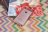 Eiroo Clear Thin iPhone 7 / 8 Rose Gold Kenarlı Şeffaf Rubber Kılıf - Resim 2