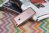 Eiroo Clear Thin iPhone 7 / 8 Rose Gold Kenarlı Şeffaf Rubber Kılıf - Resim 1