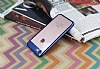 Eiroo Clear Thin iPhone 7 / 8 Lacivert Kenarlı Şeffaf Rubber Kılıf - Resim 1