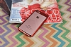 Eiroo Clear Thin iPhone 7 / 8 Kırmızı Kenarlı Şeffaf Rubber Kılıf - Resim 2