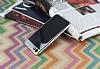 Eiroo Clear Thin iPhone 7 / 8 Silver Kenarlı Şeffaf Rubber Kılıf - Resim 1