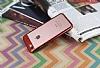 Eiroo Clear Thin iPhone 7 / 8 Kırmızı Kenarlı Şeffaf Rubber Kılıf - Resim 1