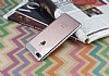 Eiroo Clear Thin iPhone 7 Plus / 8 Plus Silver Kenarlı Şeffaf Rubber Kılıf - Resim 1