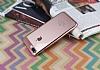 Eiroo Clear Thin iPhone 7 Plus / 8 Plus Rose Gold Kenarlı Şeffaf Rubber Kılıf - Resim 1