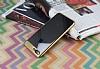 Eiroo Clear Thin iPhone 7 Plus / 8 Plus Gold Kenarlı Şeffaf Rubber Kılıf - Resim 1